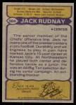 1979 Topps #304  Jack Rudnay  Back Thumbnail