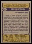 1979 Topps #291  Jack Gregory  Back Thumbnail