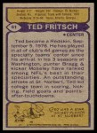1979 Topps #61  Ted Fritsch Jr.  Back Thumbnail