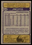 1979 Topps #324  Jim Otis  Back Thumbnail