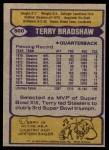 1979 Topps #500  Terry Bradshaw  Back Thumbnail