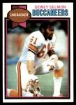 1979 Topps #303  Dewey Selmon  Front Thumbnail