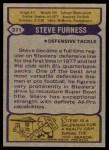 1979 Topps #371  Steve Furness  Back Thumbnail