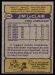 1979 Topps #454  Jim LeClair  Back Thumbnail