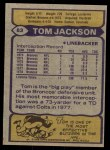 1979 Topps #83  Tom Jackson  Back Thumbnail