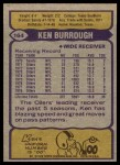 1979 Topps #164  Ken Burrough  Back Thumbnail