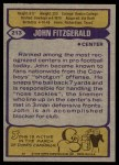 1979 Topps #213  John Fitzgerald  Back Thumbnail