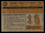 1960 Topps #339  Harry Chiti  Back Thumbnail
