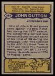 1979 Topps #355  John Dutton  Back Thumbnail
