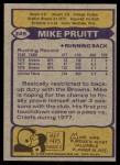 1979 Topps #249  Mike Pruitt  Back Thumbnail