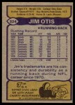 1979 Topps #324  Jim Otis  Back Thumbnail