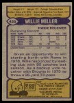 1979 Topps #435  Willie Miller  Back Thumbnail