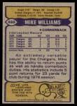 1979 Topps #459  Mike Williams  Back Thumbnail