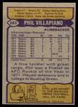 1979 Topps #283  Phil Villapiano  Back Thumbnail