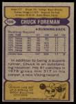 1979 Topps #100  Chuck Foreman  Back Thumbnail