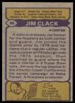 1979 Topps #99  Jim Clack  Back Thumbnail