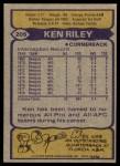 1979 Topps #205  Ken Riley  Back Thumbnail