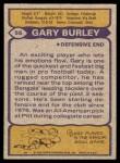 1979 Topps #55  Gary Burley  Back Thumbnail