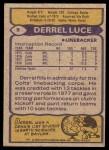 1979 Topps #9  Derrel Luce  Back Thumbnail
