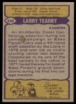 1979 Topps #316  Larry Tearry  Back Thumbnail