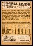1968 Topps #26  Darrell Brandon  Back Thumbnail