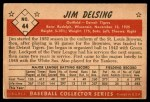 1953 Bowman B&W #44  Jim Delsing  Back Thumbnail