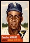 1953 Topps #66  Orestes Minnie Minoso  Front Thumbnail