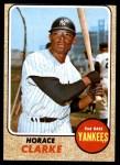 1968 Topps #263  Horace Clarke  Front Thumbnail