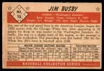 1953 Bowman #15  Jim Busby  Back Thumbnail