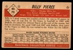 1953 Bowman #73  Billy Pierce  Back Thumbnail