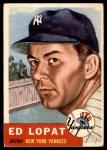 1953 Topps #87  Eddie Lopat  Front Thumbnail