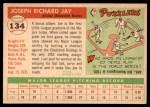 1955 Topps #134  Joey Jay  Back Thumbnail