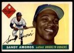1955 Topps #75  Sandy Amoros  Front Thumbnail