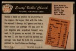1955 Bowman #273  Bubba Church  Back Thumbnail