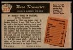 1955 Bowman #222  Russ Kemmerer  Back Thumbnail
