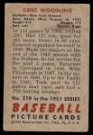 1951 Bowman #219  Gene Woodling  Back Thumbnail