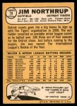 1968 Topps #78  Jim Northrup  Back Thumbnail