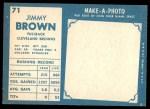 1961 Topps #71  Jim Brown  Back Thumbnail