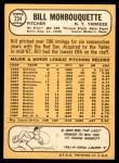 1968 Topps #234  Bill Monbouquette  Back Thumbnail