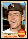 1968 Topps #246  Fritz Peterson  Front Thumbnail