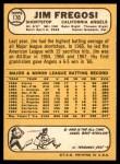1968 Topps #170  Jim Fregosi  Back Thumbnail