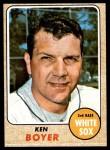 1968 Topps #259  Ken Boyer  Front Thumbnail