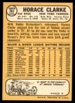 1968 Topps #263  Horace Clarke  Back Thumbnail