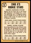 1968 Topps #199   -  Roberto Rodriquez / Darrell Osteen A's Rookies Back Thumbnail