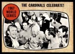 1968 Topps #158   -  Tim McCarver / Dick Hughes World Series Summary - The Cardinals Celebrate! Front Thumbnail