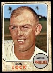 1968 Topps #59  Don Lock  Front Thumbnail