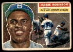 1956 Topps #30  Jackie Robinson  Front Thumbnail