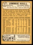 1968 Topps #121  Jimmie Hall  Back Thumbnail