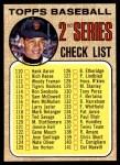 1968 Topps #107 xTCH  -  Juan Marichal Checklist 2 Front Thumbnail