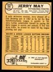 1968 Topps #598  Jerry May  Back Thumbnail